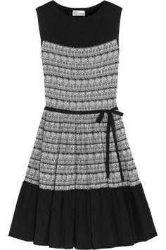 8ecf7400ce781 RED VALENTINO Two-tone cotton-blend mini dress.  redvalentino  cloth  dress