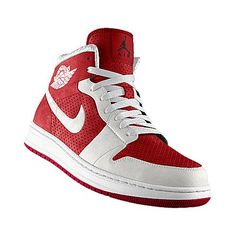 I designed the varsity red Nike Air Jordan Alpha 1 iD basketball shoe with  white trim to support the Arkansas Razorbacks. e58377751