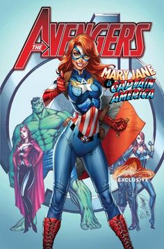Mary Jane is Captain America by J Scott Campbell