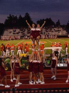 Susquehanna University 2006 - all-girl double cupie Easy Cheerleading Stunts, Cool Cheer Stunts, Cheerleading Cheers, Cheer Coaches, Cheer Mom, Cheer Stuff, Cheer Routines, Cheer Workouts, Song Workouts