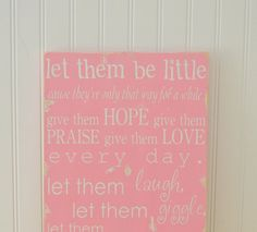 This is just what i have been looking for to hang on the girls playroom door...Thanks Etsy!