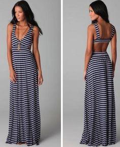 great summer dress! Nautical! Loving it!