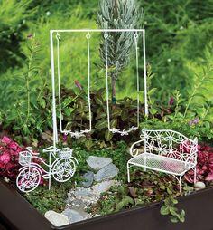 Fairy Gardening - Walk in the Park™ Set, $33.95 (http://store.fairygardening.com/walk-in-the-park-set/)