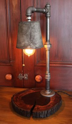 Plumbing pipe lamp! https://www.etsy.com/listing/182047153/industrial-table-lamp-steampunk-style