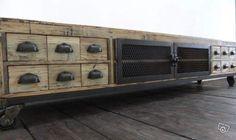 Meuble TV industriel bois et métal Ameublement Rhône - leboncoin.fr