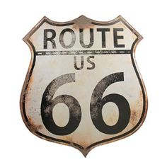 Hang our rustic Route 66 Shield sign on your wall to add retro charm to any room.