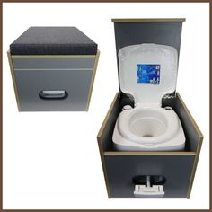Black upholstery without toilet, € - Toilet stool Porta Potti 335 incl. Black upholstery without toilet, € The Effective Pictur - Auto Camping, Camping Tools, Van Camping, Camping Hacks, Outdoor Camping, Vw Lt Camper, Camper Trailers, Campers, T3 Vw