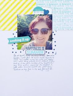 Happiness is Summer by Alexa Gill. This layout used a Sketch template from the Simple Scrapper's Premium Membership