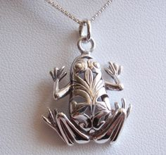 Sterling Silver Frog Necklace Cutout Southwestern by cutterstone, $39.00