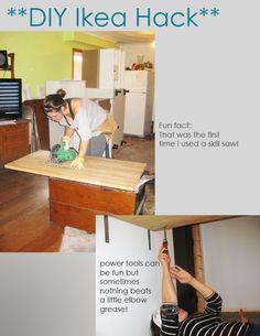 Diy Kitchen Island Ikea 18 creative ikea hacks for the kitchen | ikea hack, ikea hack