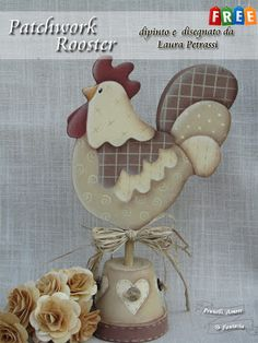 PENNELLI,AMORE E FANTASIA: Free Pattern - Patchwork Rooster