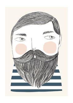 Bearded - print