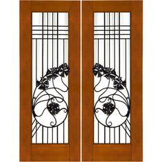 Door Emporium - Thick Contemporary Mahogany Doors with Wrought Iron and Dual Insulated Low-E  sc 1 st  Pinterest & Door Emporium - | Air Lock | Pinterest | Doors