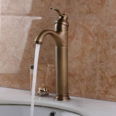 Uk antique brass #counter top basin #bathroom sink #mixer tap 8652 ouboni faucet,  View more on the LINK: https://www.globalbathrooms.co.uk/taps.html