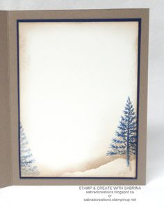inside scene on Christmas card from Stamp & Create With Sabrina ...