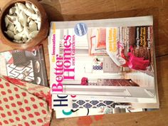 Lacefield Designs D338 Sahara Geranium Pillow on the cover of BHG May 2013