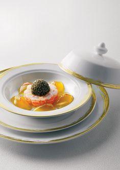 San Remo Gamberoni, Delicate Aspic, Caviar served at Alain Ducasse's anniversary party in Monaco. - Bernard Touillon
