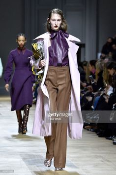 Jay Wright walks the runway during the Rochas show as part of the Paris Fashion Week Womenswear Fall/Winter 2018/2019 on February 28, 2018 in Paris, France.
