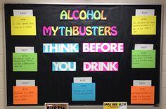 """Alcohol Mythbusters"" bulletin board for October RA Bulletin Board"