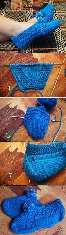Crochet Patterns Socks This Pin was discovered by Hal Crochet Socks, Knit Or Crochet, Knitting Socks, Free Knitting, Crochet Stitches, Baby Knitting, Beginner Crochet, Knitted Booties, Knitted Slippers