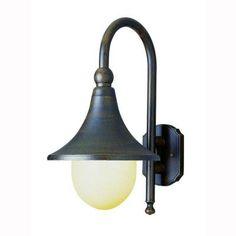 Bel Air Lighting Pier Hook 1-Light Rust Outdoor Coach Lantern with Opal Polycarbonate Shade-4775 RT - The Home Depot
