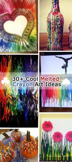 Cool Melted Crayon Art Ideas I have so many crayons, I could do all of these and still have crayons left Need fantastic tips and hints concerning arts and crafts? Diy Arts And Crafts, Cute Crafts, Creative Crafts, Crafts To Do, Easy Crafts, Kids Crafts, Creative Art, Spring Crafts For Kids, Diy Tableau