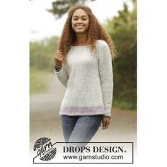Lilla Camilla pattern by DROPS design - Pulli Sitricken Sweater Knitting Patterns, Knitting Designs, Knit Patterns, Free Knitting, Drops Design, Jumpers For Women, Sweaters For Women, Raglan Pullover, Camilla