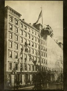 Windsor Hotel Fire, March 17, 1899.  PR 063, Frederick Smyth Collection of Fire Photographs.  NYHS Image #82691d.