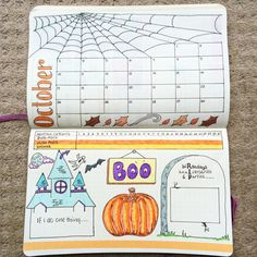 11 Enchanting Fall Bullet Journal Themes ⋆ The Petite Planner Bullet Journal Book, Bullet Journal Halloween, Bullet Journal Junkies, Bullet Journal Themes, Bullet Journal Spread, Bullet Journal Layout, My Journal, Bullet Journal Inspiration, Journal Pages