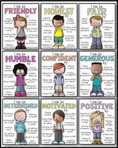 Classroom Expectations - Character Traits Posters by Kaitlynn Albani Teaching Social Skills, Social Emotional Learning, Teaching Kids, Kids Learning, Social Skills Lessons, Life Skills, Classroom Expectations, Classroom Behavior, Classroom Management