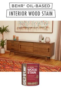 Transform your interior wooden furniture from drab to fab with help from BEHR® Oil-Based Wood Stain. Used for horizontal and vertical surfaces, this product reduces drips and runs, and has one-coat coverage. Available in select stores. Click below to learn more.
