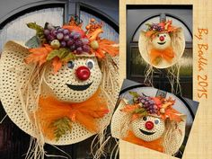 jesenná dekorácia, Aranžovanie | Artmama.sk Christmas Crafts For Kids, Thanksgiving Crafts, Fall Crafts, Halloween Crafts, Diy Flowers, Flower Pots, Crafts To Sell, Diy And Crafts, Autumn Activities For Kids
