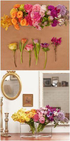 Ombre Floral Arrangement #flowerideas
