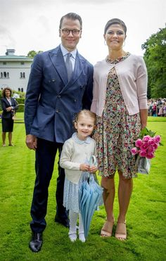 Princess Estelle of Sweden and her parents princess Victoria and Daniel