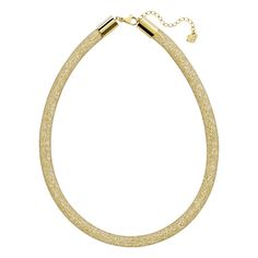 #necklace - 16% OFF. http://bucksme.com/share/3400  This easy-to-wear Stardust Deluxe Necklace features a fishnet tube filled with sparkling golden crystals. Boasting a stunning 3D silhouette, the necklace is a must-have for your jewelry box. It comes with an adjustable lobster clasp closure in gold PVD metal.