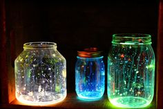 Des petits pots fluorescents