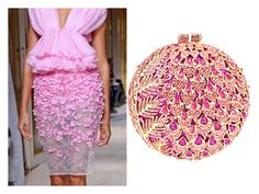 """Monte Carlo Lady, Pretty in Pink, Crystal Clutch Bag"" by acanthaluxury on Polyvore"
