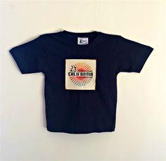 California Vintage Print Navy Blue T-shirt