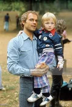 Terence hill with his son jess