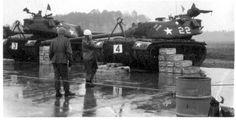 m-103 u.s. heavy tank | Bergen-Belsen, 606th Ord Co - M-103 heavy tanks with 120mm guns on ...