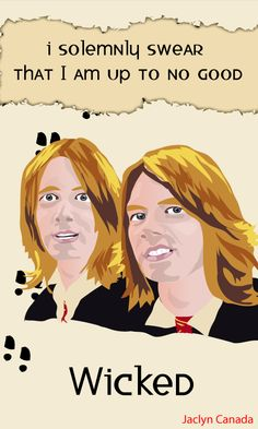 Fred and George Weasley from the Harry Potter Series by J.K. Rowling