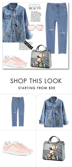 """""""ZAFUL"""" by lula-l ❤ liked on Polyvore featuring adidas Originals"""