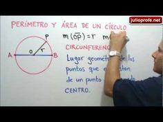 Perímetro y área de un círculo: Julio Rios expone las fórmulas para determinar el perímetro y el área de un círculo. También resuelve dos ejercicios de aplicación.