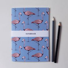 Our Margo Flamingo A5 Notebook will add a tropical pop to any stationery stash! Size A5 Print featured on both back and front covers 40 plain pages Wrapped with an m&h belly wrap  *OFFER* Buy any two A5 notebook for £8 here https://www.etsy.com/uk/listing/269650424/any-two-a5-notebooks-for-eight-pounds?ref=shop_home_active_1  Love of Margo Flamingo design?! Find more Flamingo products here - Cushion…