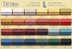 Buttermilk Paints from Laney's Old Village Paint!  Flat. Interior/Exterior quality for arts and crafts, furniture, architecture!  Does it all!   Can be waxed but it's not needed.  Primitive Colors