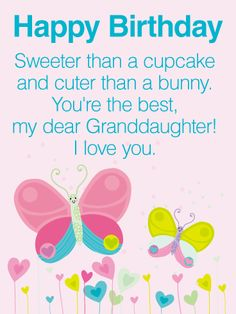 Happy Birthday Wishes Card For Granddaughter A Little Poem
