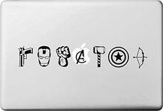 Beon Macbook Laptop Decal Macbook Vinyl Sticker Partial Cover Macbook Pro Decal Skin Macbook Air 13 15 Sticker avenger