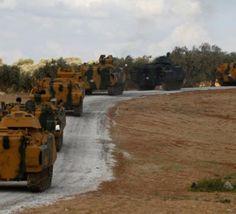 ورود+اولین+کاروان+نظامی+ترکیه+به+استان+ادلب+در+سوریه