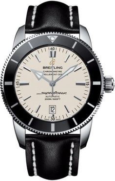 Breitling Watch Superocean Heritage II 46 Steel Croco Tang Type Watch available to buy online from with free UK delivery. Men's Watches, Fossil Watches, Breitling Watches, Sport Watches, Cool Watches, Fashion Watches, Dress Watches, Breitling Superocean Heritage, Breitling Navitimer