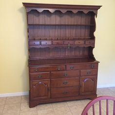 "How To Bring A Vintage Ethan Allen Hutch To Life - When I found this vintage Ethan Allen hutch, I knew immediately it was ""the one!"" Old cher..."